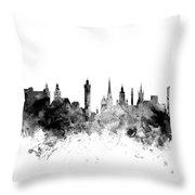 Glasgow Scotland Skyline Throw Pillow
