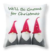 Christmas Gnomes Throw Pillow