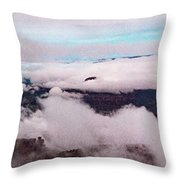Grand Canyon Above The Clouds Throw Pillow