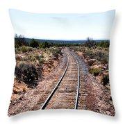 Grand Canyon Railway Throw Pillow by Thomas R Fletcher