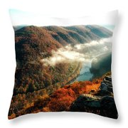 Grandview New River Gorge Throw Pillow