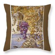Grapes And Olives Throw Pillow