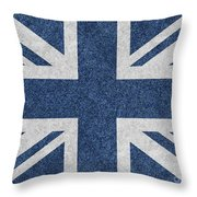 Great Britain Denim Flag Throw Pillow