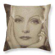 Greta Garbo, Vintage Hollywood Actress Throw Pillow