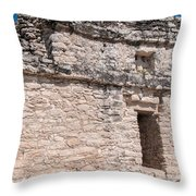 Grupo Nohoch Mul At The Coba Ruins  Throw Pillow