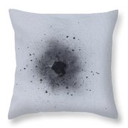 Gunshot Residue On Cotton Paper Throw Pillow