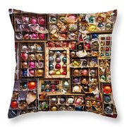 Happy Christmas Wishes Throw Pillow