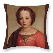 Head Of The Madonna Throw Pillow