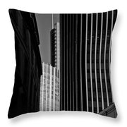 Heron Tower London Black And White Throw Pillow