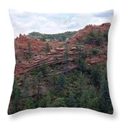 Hiking The Mesa Trail In Red Rocks Canyon Colorado Throw Pillow