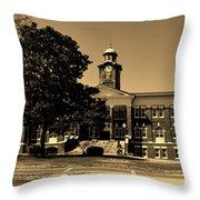 Historic White Hall - Tuskegee University Throw Pillow