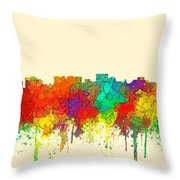 Hobart Australia Skyline  Throw Pillow