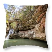 Hocking Hills Waterfall Throw Pillow