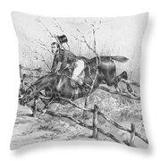 Horserider, C1840 Throw Pillow