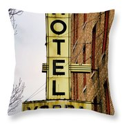 Hotel Yorba Throw Pillow by Gordon Dean II
