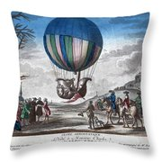 Hydrogen Balloon, 1783 Throw Pillow