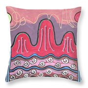 Ilwolobongdo Abstract Landscape Painting Throw Pillow