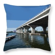 Indian River Lagoon At Vero Beach In Florida Throw Pillow