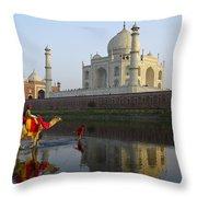 India's Taj Mahal Throw Pillow