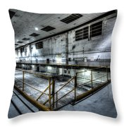 Industrial Throw Pillow by Adnan Bhatti