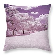 Infrared Garden Throw Pillow