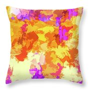 It's An Abstract Day Throw Pillow