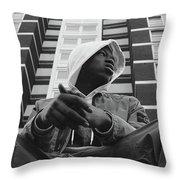 J Hus Throw Pillow