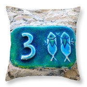 Jaffa, Pisces Zodiac Street Sign  Throw Pillow