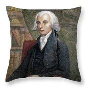 James Madison (1751-1836) Throw Pillow