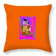 3 Jazz Internet Music Poster Throw Pillow