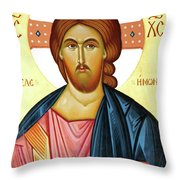 Jesus Teaching Throw Pillow