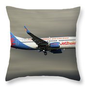 Jet2 Boeing 737-33v Throw Pillow