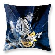Joe Bonamassa Blues Guitarist Art Throw Pillow