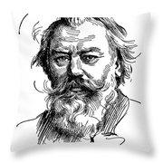Johannes Brahms 1833-1897 Throw Pillow