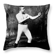 John L. Sullivan (1858-1918) Throw Pillow by Granger