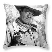 John Wayne (1907-1979) Throw Pillow
