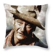 John Wayne Hollywood Actor Throw Pillow