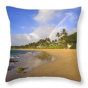 Keawakapu Beach Throw Pillow