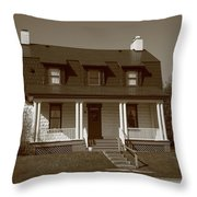 Keeper's House - Presque Isle Light Michigan Throw Pillow