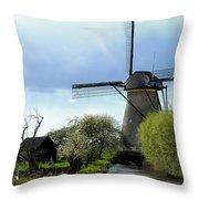 Kinderdijk Windmill Throw Pillow