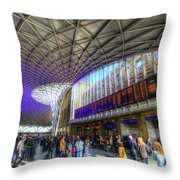 Kings Cross Rail Station London Throw Pillow