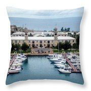 Kings Wharf Bermuda Throw Pillow