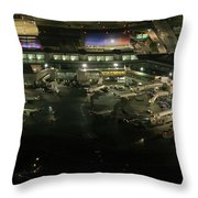 Laguardia Airport Aerial View Throw Pillow