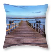 Lake Pier - England Throw Pillow
