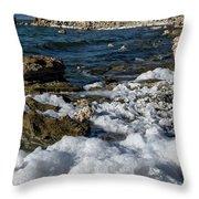 Lakefront At Mono Lake, Eastern Sierra, California, Usa Throw Pillow