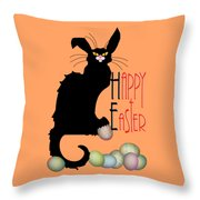 Le Chat Noir - Easter Throw Pillow