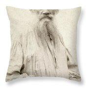Leo Tolstoy (1828-1910) Throw Pillow