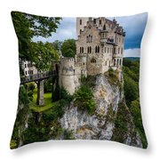 Lichtenstein Castle - Baden-wurttemberg - Germany Throw Pillow