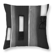 3 Lighted Wall Sconce Throw Pillow
