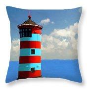 Lighthouse On The Sea Throw Pillow